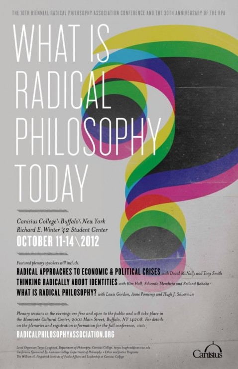 What Is Radical Philosophy Today?