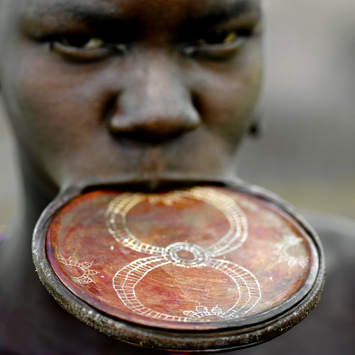 Mursi lip plate South Ethiopia
