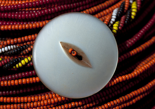 Detail of a Rendille necklace - Kenya