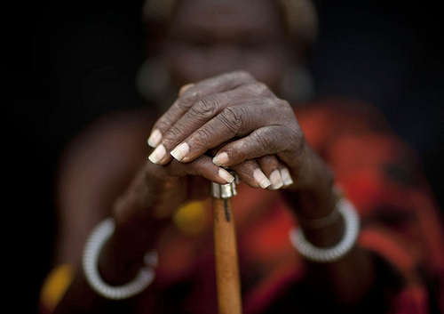 Loluguk, Turkana Chief's hands - Kenya