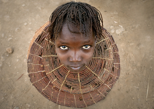 Pokot girl with the traditional necklace - Kenya