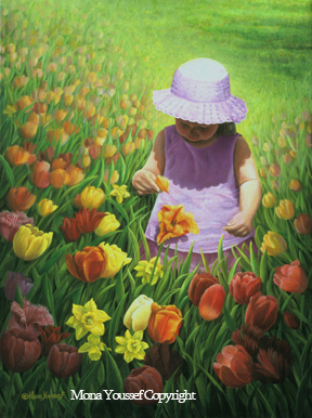 Picking a tulip by Mona Youssef