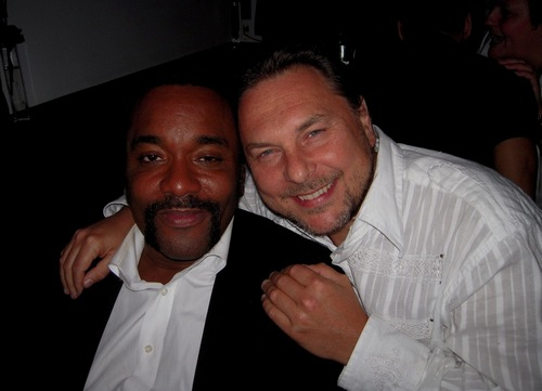 Mario Grigorov with (Precious) director Lee Daniels at a film festival