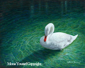 White Swan by Mona Youssef