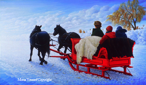 Winter lude ride by Mona Youssef