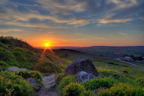 Sunset on Ilkley Moor