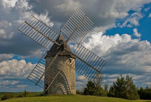 Windmill near Cahors, France, 19 Sept. 2008