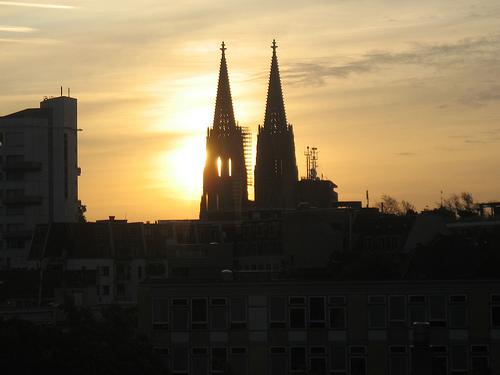 Sonnenaufgang Kölner Dom