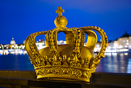 Stockholm - Gilded Crown at Skeppsholmsbron