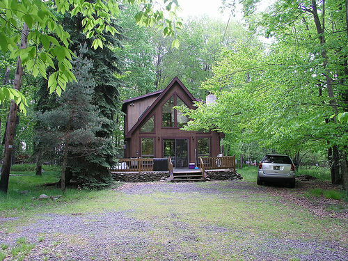 my house in the middle of the woods