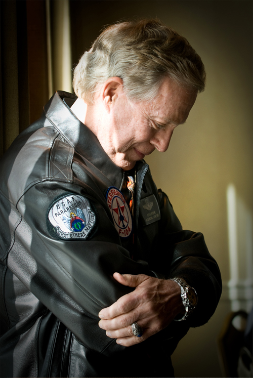 GRIGSBY_AceLooksBack: This is a shot of retired Brig. Gen Steve Ritchie, the last and only U.S. Air Force ace since the Korean War. I was attracted to