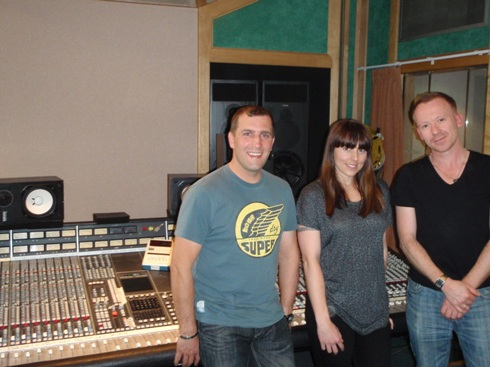 12 Cliff, Mel C & Simon at RAK Studios